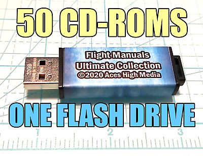 THE ULTIMATE COLLECTION of FLIGHT MANUALS 49 CDS on ONE FLASH DRIVE
