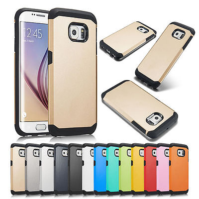 Galaxy S7 S6/S6 Edge+Plus Case ShockProof Hybrid Slim Tough Armor TPU+PC Cover