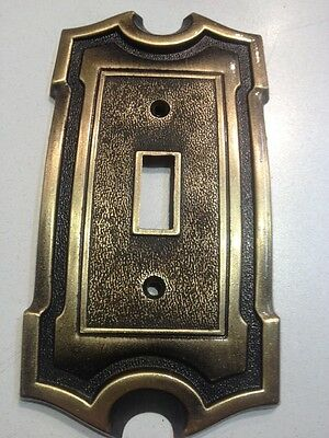 Single Toggle Light Switch Cover Plate Brass Vintage AH American Hardware
