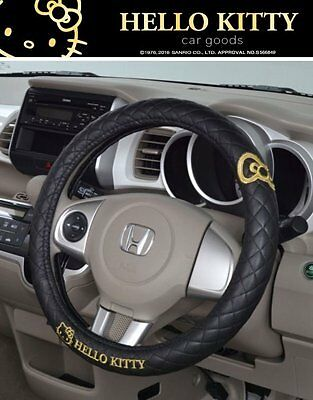 NEW LISTING Hello Kitty KT488 Car Steering Wheel Cover Black
