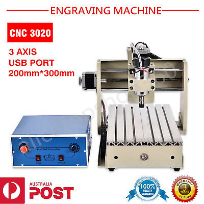 Usb 3 Axis 3020T Cnc Router Engraver Engraving Machine Milling T-Screw Crafts Au