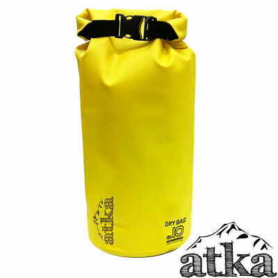ATKA Dry Carry Bag 10L YELLOW Waterproof Travel Camping Canoe Kayak Floating