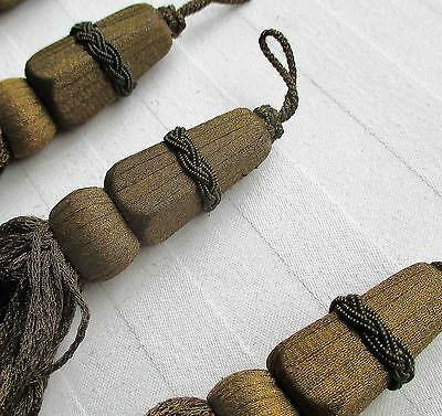 Antique Gold Metallic Tassels Decorative Cone Shaped Tops French