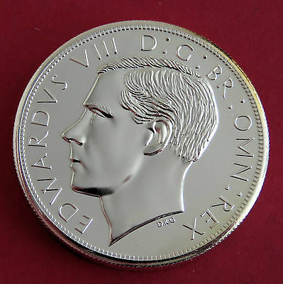 EDWARD VIII SCOTLAND SILVER COATED PIEDFORT PROOF PATTERN CROWN - mintage 18