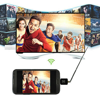 Mini USB Digital DVB-T TV Freeview Tuner Receiver For Android Tablet PC Laptop