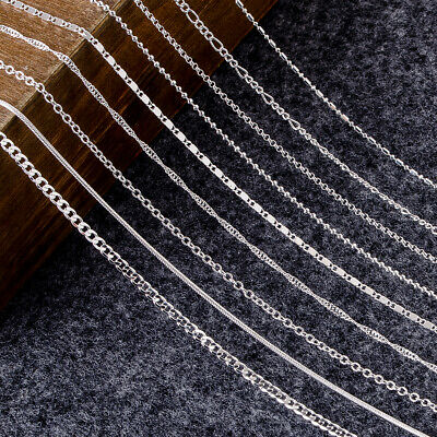 Genuine Hallmarked Solid Sterling Silver Chain Necklace Various Styles 16-30''