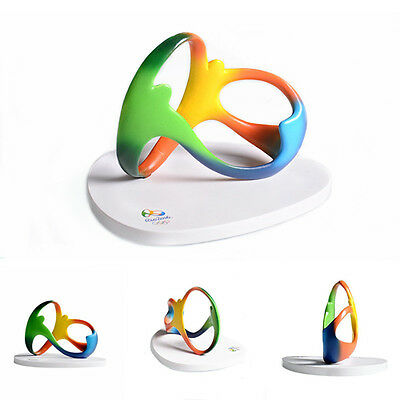 TOP+ FREE SHIP 2016 Rio Olympic 3D Official Logo PVC Table Display Decoration