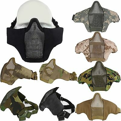 Airsoft Steel Mesh Half Face Mask Tactical Protection Tactical Military War Game