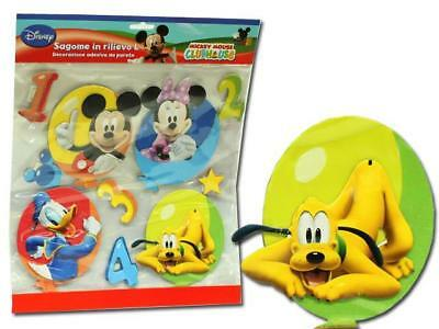 Set 4 Stickers 3D Mickey Mouse
