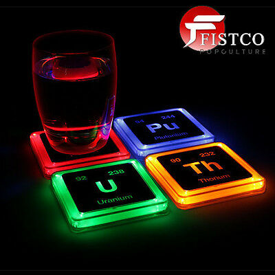 ELEMENTS - Radioactive Glowing Coaster Set (Think Geek)