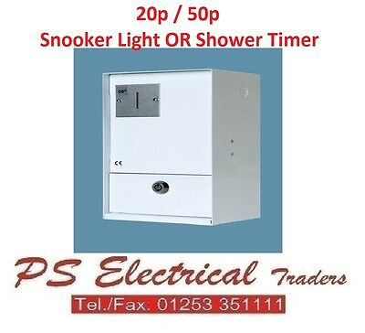 Coin Operated Prepayment Electric Shower / Snooker Light Timer Meter 20P Or 50P