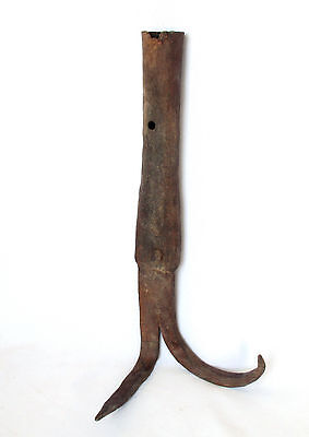 1800's Antique Iron Farming Tool, Soil Depletion Before Sowing & Fertilizing