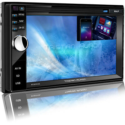 AUTORADIO Bildschirm mit Bluetooth Navigation GPS DVD USB MP3 CD 2 DIN Navi SD