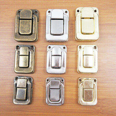 4 x JEWELLERY BOX 30mm LATCH CATCH CLOSURE *2 COLOURS* CIGAR LID LOCK DECORATIVE
