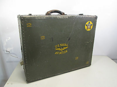 Vintage US Navy Seapack Aviation Military Suitcase