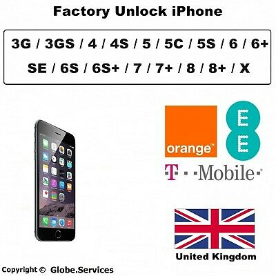 Unlock iPhone EE Orange T-Mobile UK Unlocking iPhone 4 4S 5 5C 5S 6 6S SE 7 8 X
