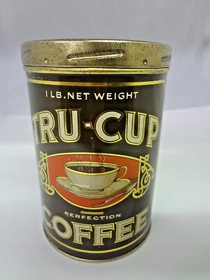 Vintage Tru-Cup Coffee With Original Lid  Advertising Collectible   918-W