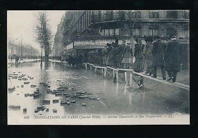 France PARIS Inondations Floods 1910 Avenue Daumesnil Louis Levy LL PPC
