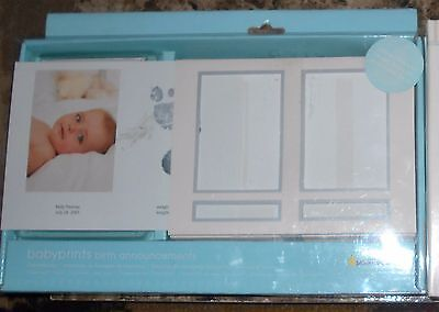 Pearhead Light Pink Girls Baby prints Birth Announcements Foot Prints Cards New