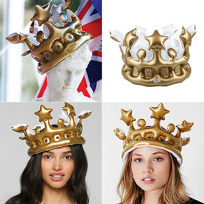 Kids Inflatable Cosplay Birthday Party Stage Hats Crown Supplies Tools