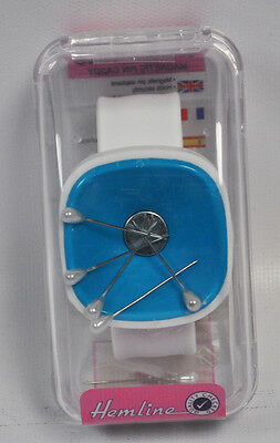 Hemline Wrist Super Pinny Magnetic Pin Caddy Assorted Colors