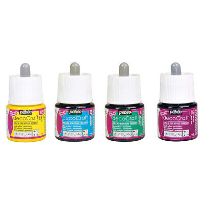 Pebeo DecoCraft Art & Craft Ink for Card Making, Drawing 45ml in 19 Colours
