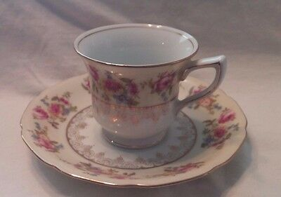 Vintage Gold Castile China Tea Cup and Saucer Made in Japan