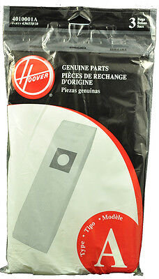 Hoover Type A Vacuum Cleaner Bags 4010001A, 43655010