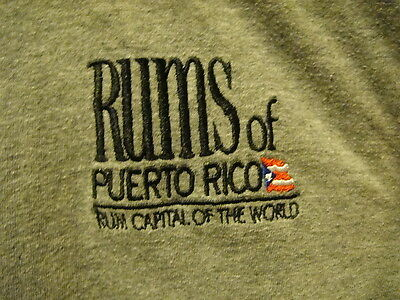 RUMS of PURTO RICO ~ XL ~ Rum Capital of the World ~ Ringer T Shirt