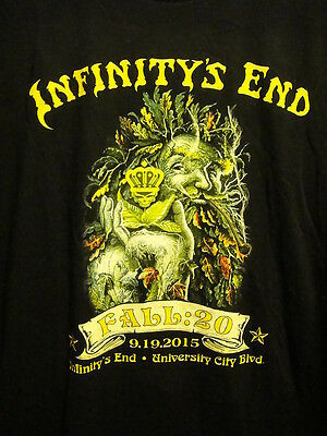 INFINITY'S END Charlotte NC Smoke Shop ~ MED ~ 420 Queen City ~ 2 Sided T Shirt