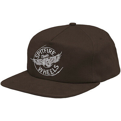 New SPITFIRE Skateboard Wheels Flying Classic Logo Brown Structured 5-Panel Hat