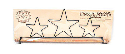 Classic Motifs Stars 16 Inch Fabric Holder With Dowel