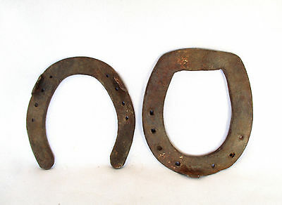 Ottoman Turkey WW1 Army Relic , 2 Old Rusty Iron Horse Shoes