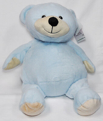 EB Embroider Bear Blue 16 Inch Embroidery Stuffed Animal