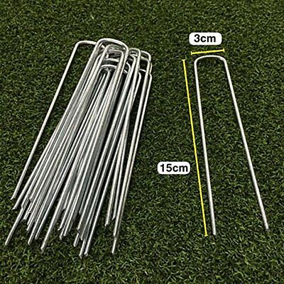 U-shaped Garden Securing Pegs for securing artificial grass weed fabric netting