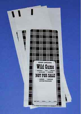 Wild Game Ground Meat Freezer Chub Bags 1Lb 100 Count Free Shipping