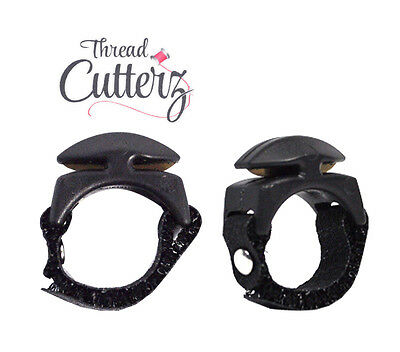 Thread Cutterz Adjustable Thread Floss Yarn Cutting Ring Black