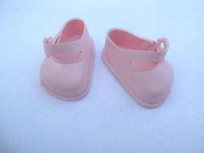 Size 03 Cinderella Strap Plastic Doll Shoes In Pink