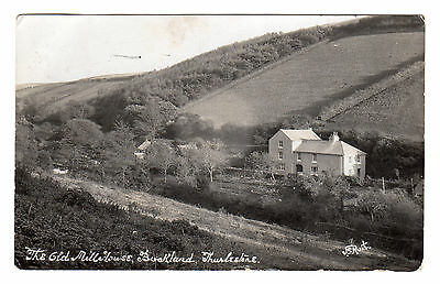 Old Mill House Buckland - Thurlestone Real Photo Postcard 1925