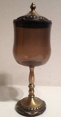 Vintage Amerock Carriage House Brass Mouthwash Cup Soap Dish