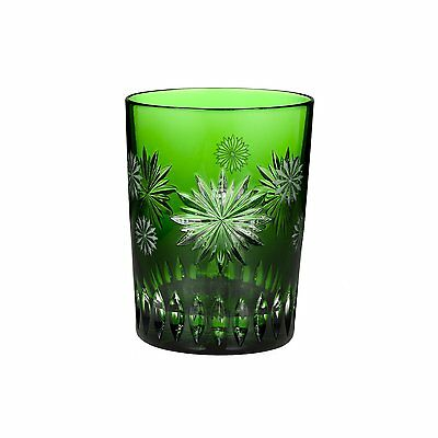 Waterford Snowflake Wishes for Courage Emerald Double Old Fashioned Glass
