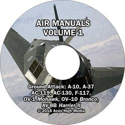 Ground Attack Flight manuals on CD A-10, A-37, OV-1,F-117, AC-130, Harrier, more