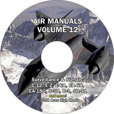 SR71 Blackbird Flight Manual on CD - Also U2, EA18G, C12, E2, E6A, EA6B, S3