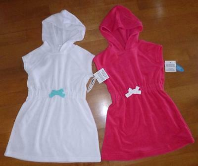 Toddler Girls Hooded Bathing Suit Cover Up Size 12 18 24 Mo 2T 3T WAVE ZONE NWT