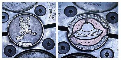 Coalburn classic Hobo Nickel  Marvin the Martian 2 sided copper clad carving