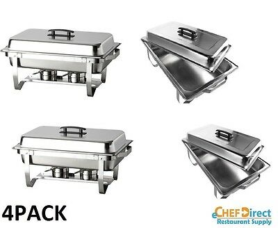 (4PACK) Stainless Full Size Folding Chafing Dish Sets Chafer Warmer Catering