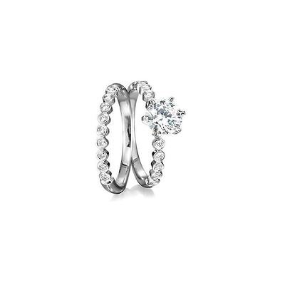 ViVi Ladies Engagement sterling silver Diamond Ring 8432a Birthday Gifts for Her