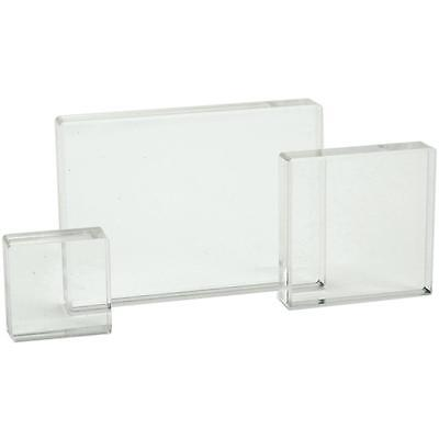 "Apple Pie Clear Stamp Acrylic Blocks! 3 pk 1.25""x1.25"", 2""x2"", 2.5""x3.5"""