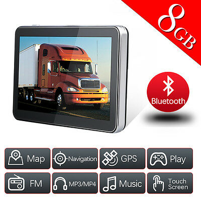 "7"" Bluetooth TRUCK CAR GPS Navigation System 8GB Wince 6.0 Free Maps AU Stock"