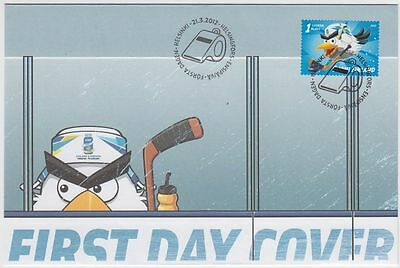 Icehockey World Championships Angry Bird Official Mascot Finland 2012 FDC